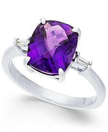Amethyst (2-7/8 ct. t.w.) & Diamond Accent Ring in Sterling Silver