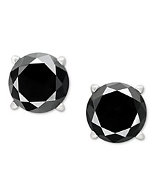 Black Diamond Stud Earrings (1 ct. t.w.) 14k White Gold