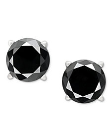 14k White Gold Earrings, Black Diamond Stud Earrings (1 ct. t.w.)