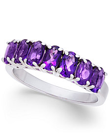 Amethyst Oval 7-Stone Ring (2 ct. t.w.) in Sterling Silver