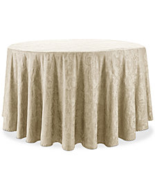 "Waterford Camille Gold 90"" Round Tablecloth"