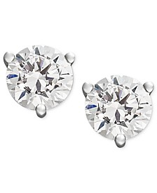 Near Colorless Certified Diamond Stud Earrings in 18k White or Yellow Gold (3/4 ct. t.w.)
