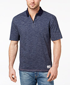 Tommy Hilfiger Denim Men's Oversized Quarter-Zip Polo, Created for Macy's