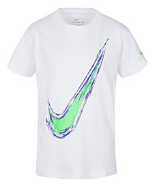 Nike Little Boys Swoosh-Print Cotton T-Shirt