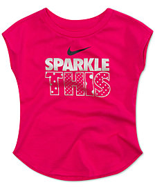 Nike Little Girls Sparkle-Print Cotton T-Shirt
