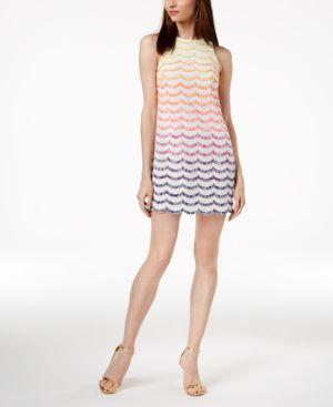 Trina Turk Macee Fringe-Striped Shift Dress 6248986