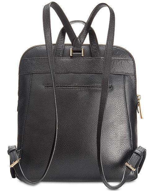 4742f89c0f71 Michael Kors Rhea Slim Pebble Leather Backpack & Reviews - Handbags ...