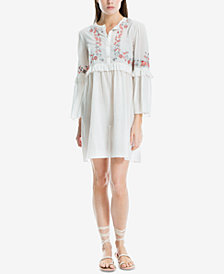 Max Studio London Cotton Embroidered Shift Dress, Created for Macy's