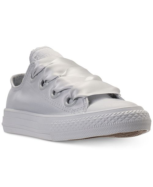 7aa7508140724c ... Converse Big Girls  Chuck Taylor All Star Big Eyelets Ox Casual  Sneakers from Finish ...