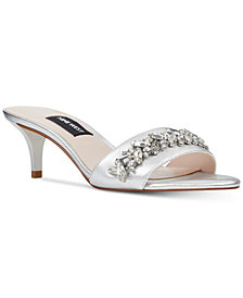 Nine West Lelon Jeweled Sandals