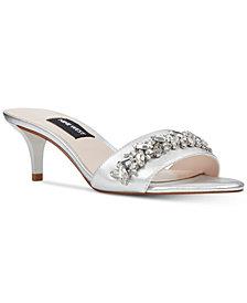 Nine West Lelon Jeweled Sandals