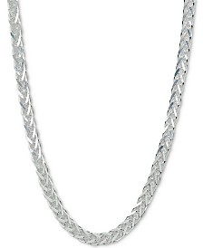 "Giani Bernini Square Herringbone Chain 18"" Collar Necklace, Created for Macy's"