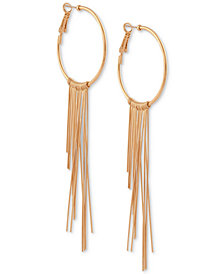 GUESS Graduated Fringe Hoop Earrings