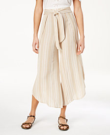 American Rag Juniors' Striped Wide-Leg Pants, Created for Macy's