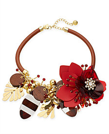 """kate spade new york Gold-Tone Floral Inspired Statement Necklace, 18"""" + 3"""" extender"""
