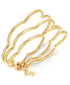 kate spade new york Gold-Tone Stackable Scalloped Edge Triple Layer Bangle Bracelet