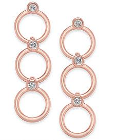 kate spade new york 14k Gold-Plated Crystal & Circle Triple  Drop Earrings