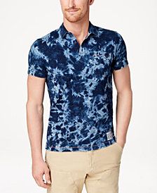 Tommy Hilfiger Denim Men's Custom-Fit Tie-Dyed Polo, Created for Macy's