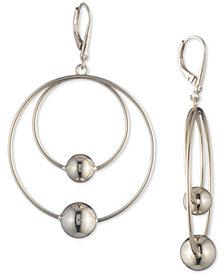 DKNY Bead Double-Row Orbital Drop Hoop Earrings, Created for Macy's