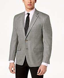 CLOSEOUT! Lauren Ralph Lauren Men's Classic-Fit Ultra-Flex Stretch Tan/Black Houndstooth Sport Coat