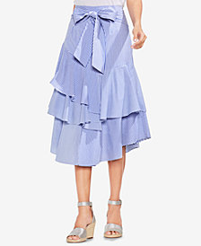 Vince Camuto Tiered Ruffled Midi Skirt