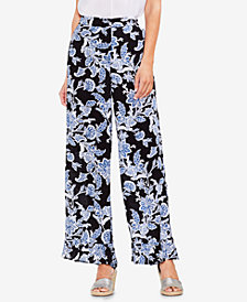 Vince Camuto Printed Ruffled Wide-Leg Pants