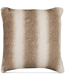 "Hallmart Collectibles Beige Faux-Fur 18"" Square Pair of Decorative Pillows"