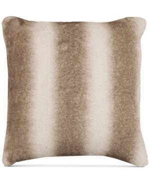 Hallmart Collectibles Beige FauxFur 18 Square Pair of Decorative Pillows