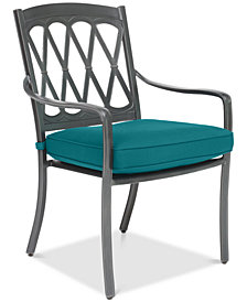 CLOSEOUT! Glenwood Outdoor Dining Chair with Sunbrella® Cushion, Created for Macy's