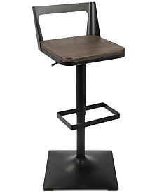 Samuri Adjustable Bar Stool, Quick Ship