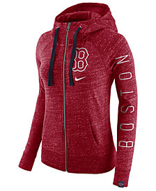 Nike Women's Boston Red Sox Gym Vintage Full Zip Hooded Sweatshirt