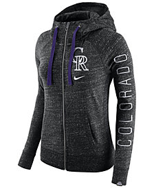 Nike Women's Colorado Rockies Gym Vintage Full Zip Hooded Sweatshirt
