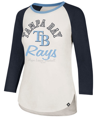 '47 Brand Women's Tampa Bay Rays Vintage Raglan T-Shirt