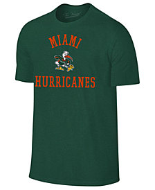 Retro Brand Men's Miami Hurricanes Arch Logo Dual Blend T-Shirt
