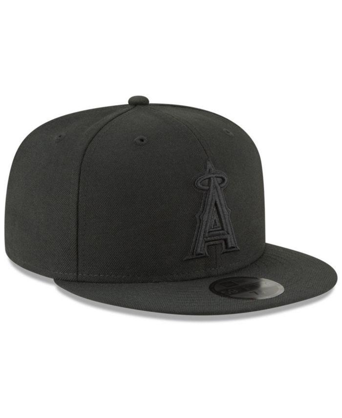 New Era Los Angeles Angels Blackout 59FIFTY FITTED Cap & Reviews - Sports Fan Shop By Lids - Men - Macy's