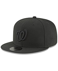 Washington Nationals Blackout 59FIFTY FITTED Cap