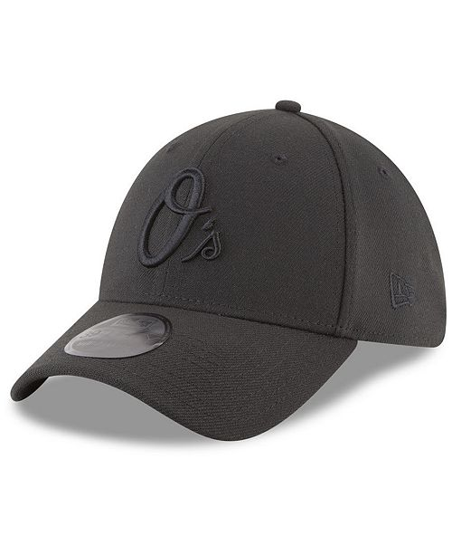 New Era Baltimore Orioles Blackout 39THIRTY Cap