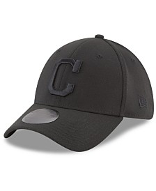 New Era Cleveland Indians Blackout 39THIRTY Cap