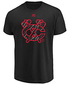Majestic Men's Chicago Blackhawks Hash Marks T-Shirt