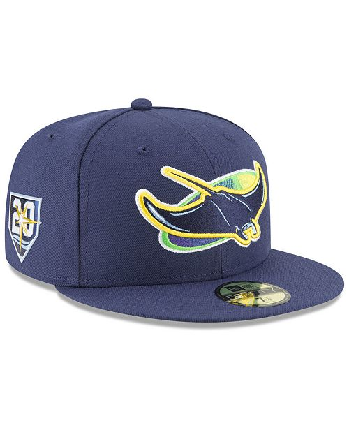 ebf8117556c ... New Era Tampa Bay Rays Authentic Collection 20th Anniversary 59FIFTY  FITTED Cap ...