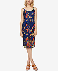 BCBGeneration Floral-Embroidered Slip Dress