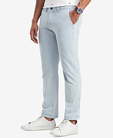 Tommy Hilfiger's Men's Classic Fit Striped Chino Pants, Created for Macy's