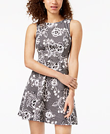 Trixxi Juniors' Open-Back Fit & Flare Dress