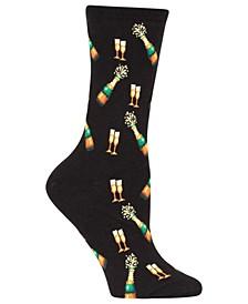 Women's New Year Champagne Bottles Socks