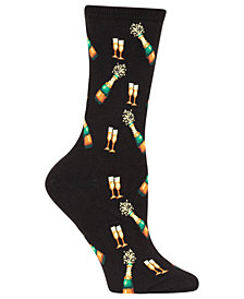 Hot Sox Women's Champagne Bottles Socks
