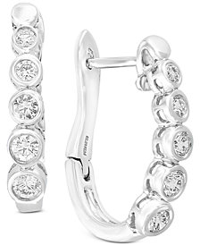 Bubbles by EFFY® Diamond Bezel Hoop Earrings (5/8 ct. t.w.) in 14k White Gold
