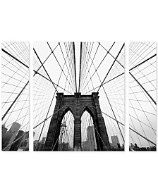 "Nina Papiorek 'NYC Brooklyn Bridge' Multi Panel Art Set Large - 41"" x 30"" x 2"""