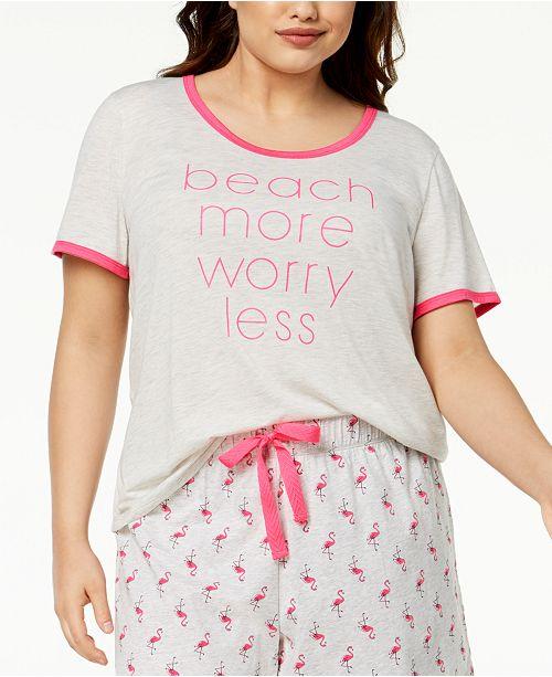 777292dbd9bd97 Jenni by Jennifer Moore Plus Size Graphic-Print Pajama Top