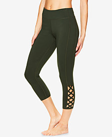 Gaiam Shilo Strappy Compression Capri Leggings