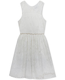 Rare Editions Big Girls Floral Lace Dress
